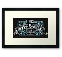 100% Coffee And Sarcasm Framed Print