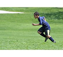Young Boy Running Photographic Print
