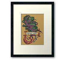 Kale 'N It Framed Print