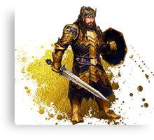 Thorin Oakenshield - Gold Armor Canvas Print