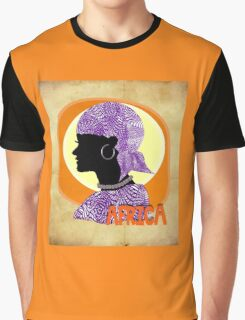 Ethnic Tribal Lady Artistic Africa Picture Graphic T-Shirt