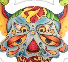 Flying Sugar Skull Sticker