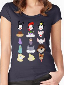 Animaniacs Animal Cast Women's Fitted Scoop T-Shirt