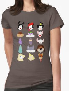 Animaniacs Animal Cast Womens Fitted T-Shirt