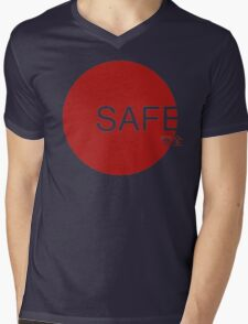 Safe. Mens V-Neck T-Shirt