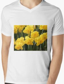 Yellow Daffodil flowers Mens V-Neck T-Shirt