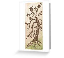 Young Willow Tree, Going With the Flow Greeting Card