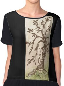 Young Willow Tree, Going With the Flow Chiffon Top