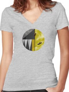 Gold & Gray Women's Fitted V-Neck T-Shirt