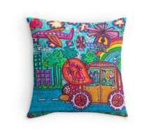 Vehicles - Are We There Yet? Throw Pillow