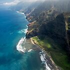 Na Pali Coast - Kauai by Michael Treloar