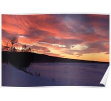 Wintry Sunset Poster