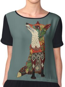 fox love juniper Chiffon Top