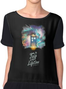 Trip of a Lifetime - TARDIS Chiffon Top