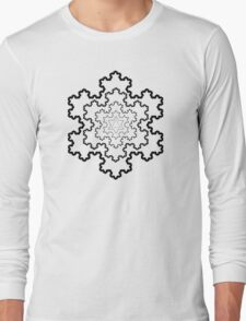 The Koch Snowflake Long Sleeve T-Shirt