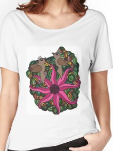 Two birds with exotic flower Women's Relaxed Fit T-Shirt