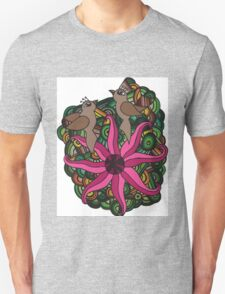Two birds with exotic flower T-Shirt