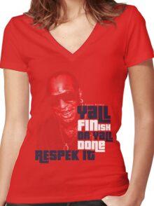 Respek It Women's Fitted V-Neck T-Shirt