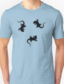 3 Lizards Geckos Art Design Unisex T-Shirt