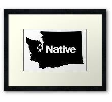 Washington Native Framed Print