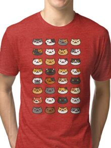 Neko Atsume - 4x8 Tri-blend T-Shirt