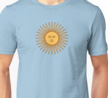 Argentina Flag T-Shirt Argentine Bedspread Sol De Mayo - Sun of May Unisex T-Shirt