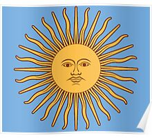 Argentina Flag T-Shirt Argentine Bedspread Sol De Mayo - Sun of May Poster