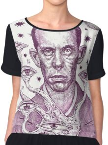 Dorf The Intergalactic Inquisitor from Planet X Chiffon Top