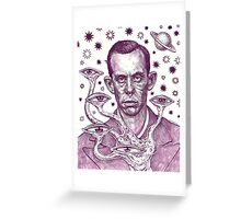 Dorf The Intergalactic Inquisitor from Planet X Greeting Card