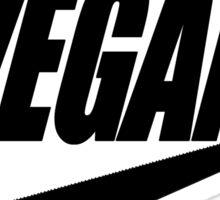 vegan black and white Sticker