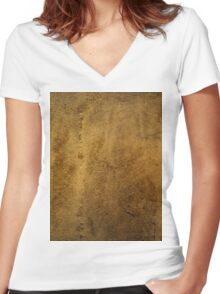 Textured Stone Women's Fitted V-Neck T-Shirt