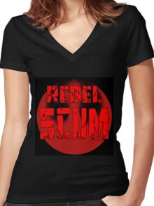 Scum Women's Fitted V-Neck T-Shirt