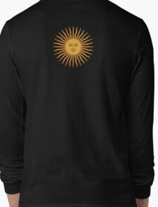 Argentina Sun Duvet Cover - Argentinian Sticker Long Sleeve T-Shirt