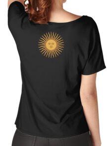 Argentina Sun Duvet Cover - Argentinian Sticker Women's Relaxed Fit T-Shirt