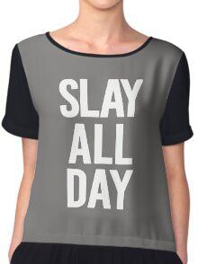 Slay All Day Chiffon Top