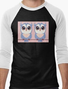 TWIN BLUE OWLETS Men's Baseball ¾ T-Shirt