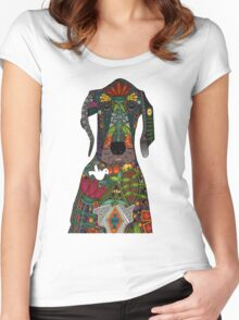 Great Dane love beige Women's Fitted Scoop T-Shirt