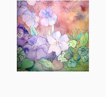 Floral Watercolour Collage 5  Womens Fitted T-Shirt
