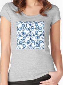 Delft Blue Tulips Women's Fitted Scoop T-Shirt