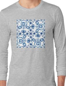 Delft Blue Tulips Long Sleeve T-Shirt