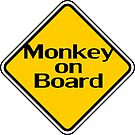 Baby Monkey On Board - Safety Sign Sticker by deanworld