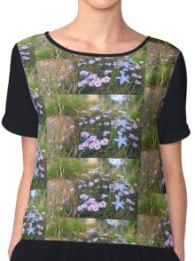 Wildflowers on a Rock Chiffon Top