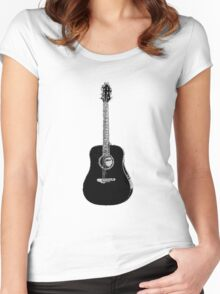 Steel String Accoustic Guitar Women's Fitted Scoop T-Shirt