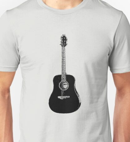 Steel String Accoustic Guitar Unisex T-Shirt