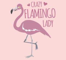 Crazy Flamingo lady Baby Tee