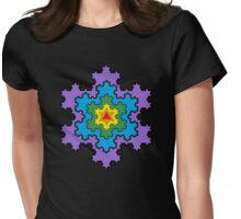 The Koch Snowflake Womens Fitted T-Shirt