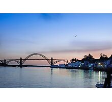 Yaquina Bay Bridge at Sunset Photographic Print