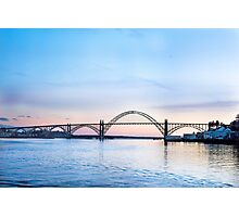 Yaquina Bay Bridge at Sunset, Newport, Oregon Photographic Print