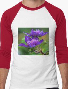 Clematis Blossoms Men's Baseball ¾ T-Shirt