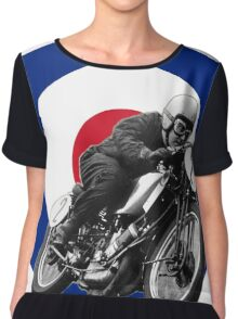 Classic UK Motorcycle Racing Chiffon Top